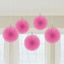 5x Papel Rosa VENTILADORES Decoración para colgar color Temática Fiesta