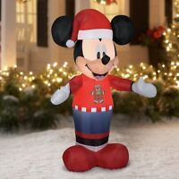 Disney 5 Foot Mickey Mouse Christmas Holiday Airblown Inflatable Gemmy
