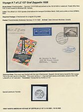 Lz127 Zeppelin Flight Cover Germany To Montreal, Canada Bs2839