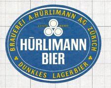 SWITZERLAND Brauerei A.Hurliman,Zurich Dunkles Lager Bier (2) beer label C1654