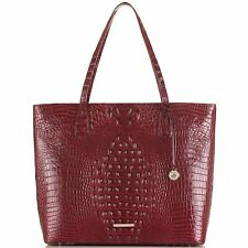 NWT $345 BRAHMIN MISHA Cranberry TOTE Large travel laptop work berry red