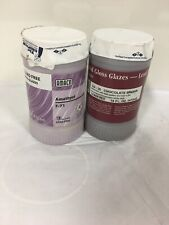 Lot Of 2 Pt Amaco F Lead-Free Non-Toxic Glaze Amethyst F-71 & chocolate brown