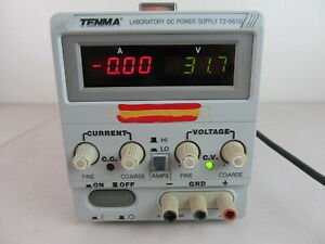 TENMA 72-6610 LABORATORY DC Power Supply 0-30V 0-3A Bench Lab PS, Working