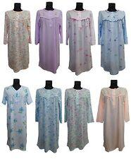 Damen Nachthemd Langarm Kurzarm Baumwolle Nachtwasche M L XL XXL XXXL 40-56