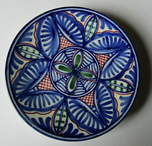 Ceramic Blue white & Green Wall Plate measures 19.5 cm