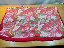 Carseat Canopy Pink & Green Floral Paisley for Infant Car Seats