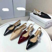 New ladies with color OL shoes hot leather high heel high heel pump shoes