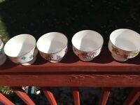 Royal Victoria Fine Bone China Footed Dessert Sherbert Cups Set of Six - England