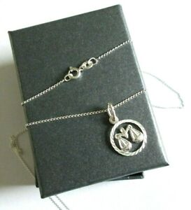 Stirling Silver *Libra* Star sign Pendant Necklace  *in a gift box*