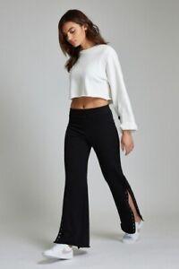 WSLY Wesley Lafayette Track Pants $185 NWT Sweatpants Bandier Shopbop XS S Black