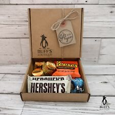 PETITE American Reeses VS Hersheys Chocolate Candy Gift Hamper Seelction Box!