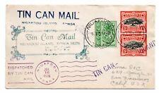 TOGA: Niuafoou Island, Tonga, Tin Can Mail 1936 cover to USA.