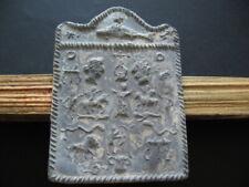 DANUBIAN HORSEMAN CULT ANCIENT CELTIC ROMAN LEAD VOTIVE PLAQUE 1-3 ct.AD 108 mm
