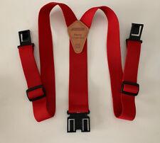 NEW Dickies Perry Red Suspenders - Flexible Adjustable Never Worn