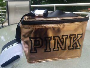 Victoria's Secret PINK Rose Gold Cooler Coozie Lunch Bag NWT