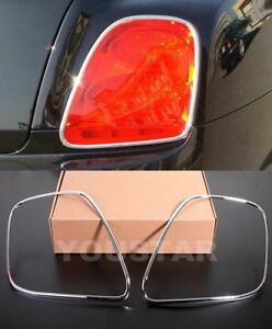 FAST EMS x2 CHROME Tail Light Trims for Bentley Continental Flying Spur 06-13
