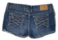 Amethyst Women's Size 7 Jean Distress Shorts Booty Pocket Double Stitch