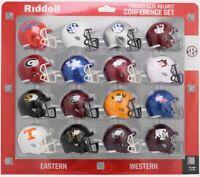 SEC Conference Set Riddell Pocket Pro Speed Style 2020 NCAA Helmets