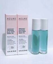 2 x Acure Seriously Soothing Blue Tansy Night Oil Travel Sample 0.3oz/10ml each
