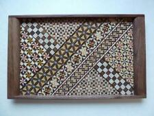 Hakone Yosegi zaiku(箱根寄木細工), Hergestellt in Japan,Handgefertigt,Obon(お盆),Tablett