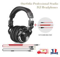OneOdio Pro-10 Filaire Casque Studio Professionnel DJ Casque avec Microphone