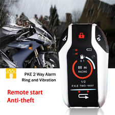 Anti-theft Digital Motorcycle  Alarm System Remote Engine Start Remote Locating