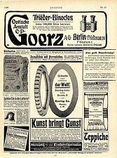 Dunlop Auto-Reifen Hanau Dessin B * Moderne Künstler Vorhänge Merz Stgt. Ad 1906
