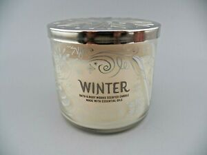 Bath & Body Works WINTER Scented Candle 3-Wick Glass Jar 14.5 oz NOS