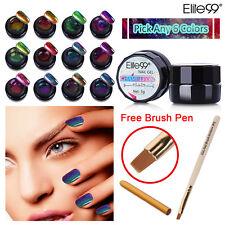 Any 6 Colors Elite99 Shimmer Changing Color Gel Nail Polish Brush Pen Chameleon