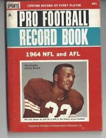 1964 NFL AFL Pro Football Record Book Jim Jimmy Brown Cleveland Browns, Chargers