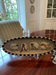 Donna White Hearthside Collection Tray Plate Sheep Signed