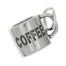 STERLING SILVER LARGE COFFEE CUP/ MUG CHARM/PENDANT