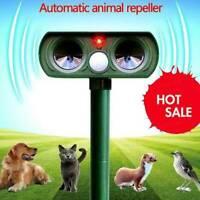 Solar Power Ultrasonic Pest Animal Repeller Garden Scarer Pet Dog Cat W2A2