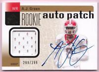 A.J. GREEN RC 2011 SP AUTHENTIC ROOKIE PATCH AUTO #289/299 AUTOGRAPH
