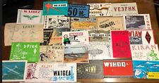 Large Lot HAM Amateur RADIO Post QSL Cards Over 200 1960-1970 Stamps