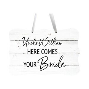 Custom Wall Hanging Wedding Sign For Ceremony And Reception Here Comes The Bride