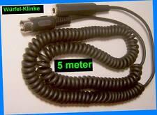 NEU⇒ 5m Spiral Kabel Kopfhörer Adapter 5pol Würfel⇒Klinke 6,3mm Sennheiser AKG