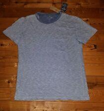 NWT Mens AMERICAN EAGLE Blue Stripe Pocket T-Shirt Size Medium M
