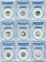 Lot of (33) Toned Silver 1946-P - 1964-D Roosevelt 10c Dimes | PCGS MS66