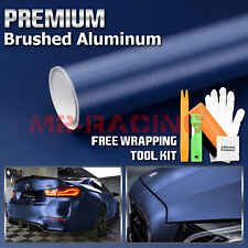 Brushed Aluminum Metal Steel Car Vinyl Wrap Sticker Decal Film Peel and Stick