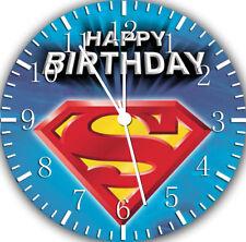 71e124a1326d Reloj De Pared Superman H cumpleaños sin marco sin bordes Decoración  agradable para regalos o E254