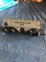 AMERICAN FLYER 640 Gray HOPPER Black Letter CAR
