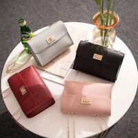 US Women Chain Bag PU Leather Shoulder Crossbody Handbag Messenger Purse Wallet