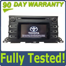 2014 2015 2016 Toyota Highlander OEM MP3 Single CD Touch Screen Bluetooth Radio