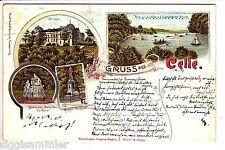 Gruss aus Celle AK 1898 Mehrbild Schloss Aller Litho Niedersachsen 1505394*