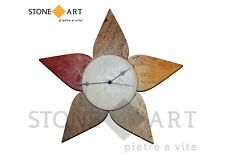 Orologio da parete fatto a mano 'Multicolor stella' in pietra naturale