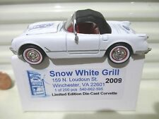 Ertl RC 2009 Snow White Grill 1953 Era Chevrolet Corvette Car New in Mint Box