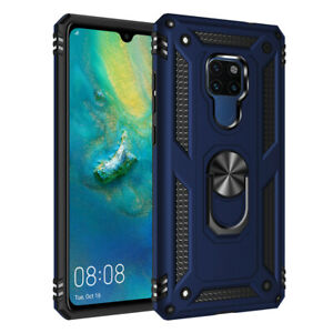 For Huawei Mate 20 X/Mate 20 Pro Military Armor Case Magnetic Ring Holder Cover