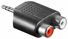 AUX Adapter Klinke Cinch Klinken Stecker 3,5 mm auf 2x Chinch Buchse rot weiß