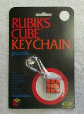 VINTAGE RUBIK'S CUBE KEYCHAIN PUZZLE MINI BY IDEAL MOC NEW SEALED 1982
